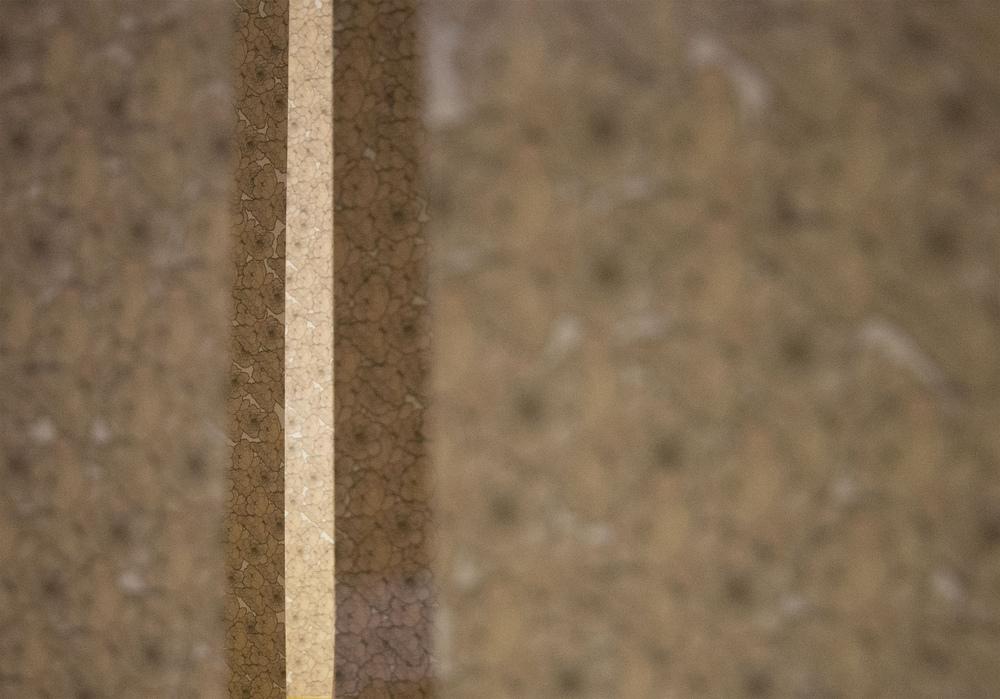 Luana Cruciato - Artis Photographie dinstallation, de 30 lés de 40cm x 7cm dans maquette de White Box 128cm X 183cm 2013