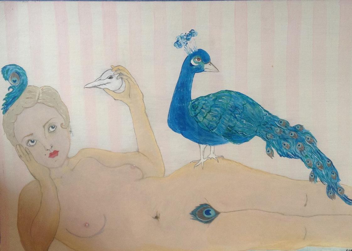Sidsel Löyche - Designer - Acrylic painting