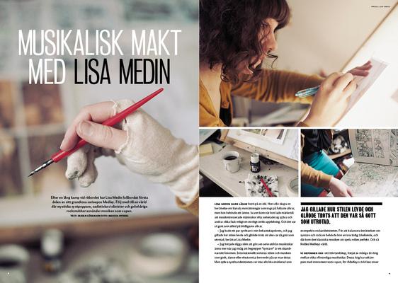 David Olgarsson | Portfolio - Formgivning artikel, Musikalisk makt med Lisa Medin, Utopi #9