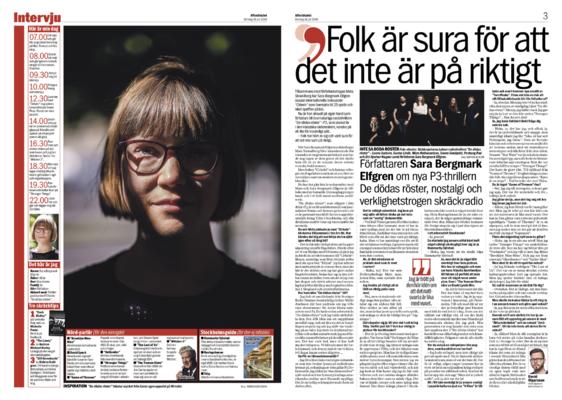 David Olgarsson | Portfolio - Söndagsintervju: Sara Bergmark Elfgren