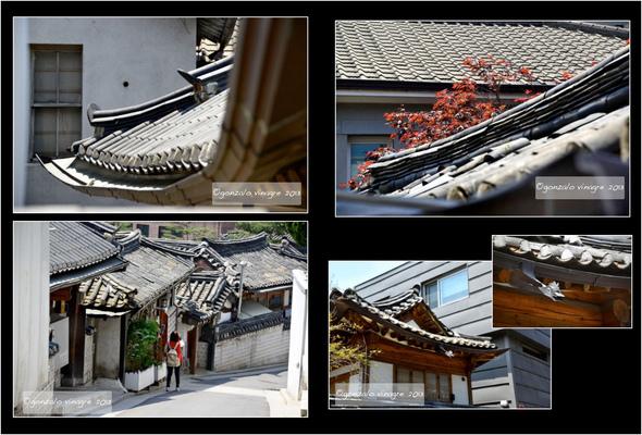 Fotografias - tejados en Bukchon Hanok Village