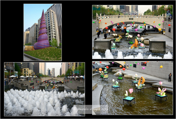 Fotografias - curso del arroyo Cheonggyecheon