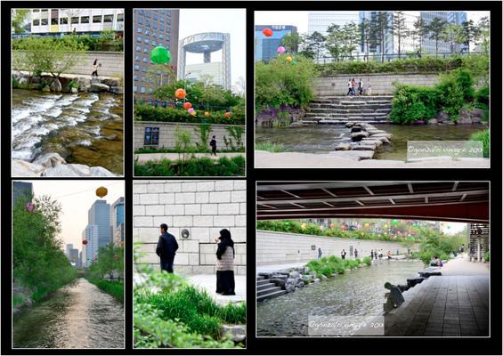 Fotografias - en el curso del arroyo Cheonggyecheon