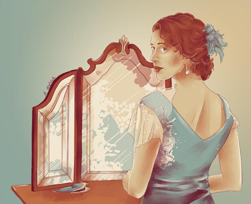 Aurélie Betsch Illustrations - A travers le miroir
