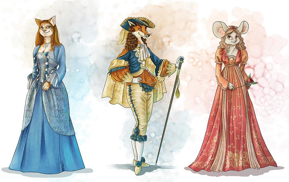 Aurélie Betsch Illustrations - Miss Ann, Molière et Juliette