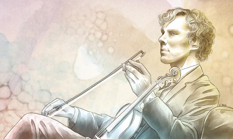 Aurélie Betsch Illustrations - Sherlock