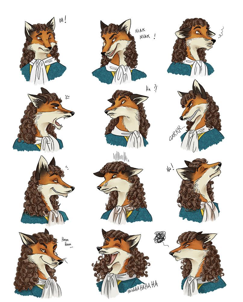 Aurélie Betsch Illustrations - Pannel dexpressions de Molière