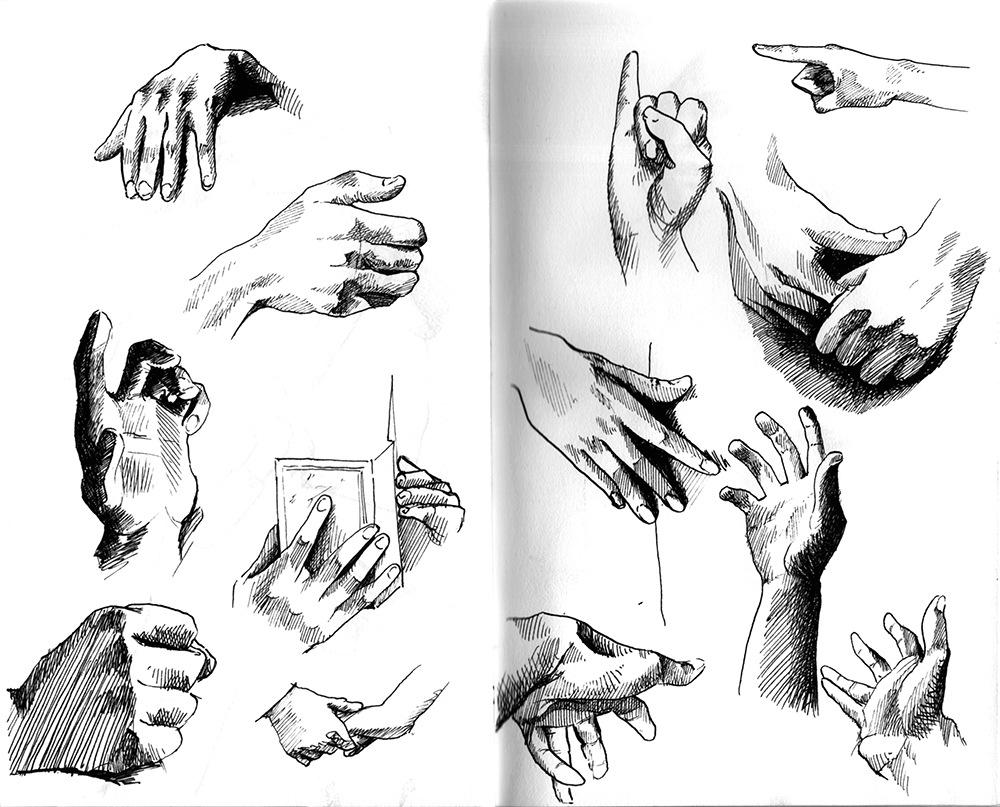 Aurélie Betsch Illustrations - Études de mains