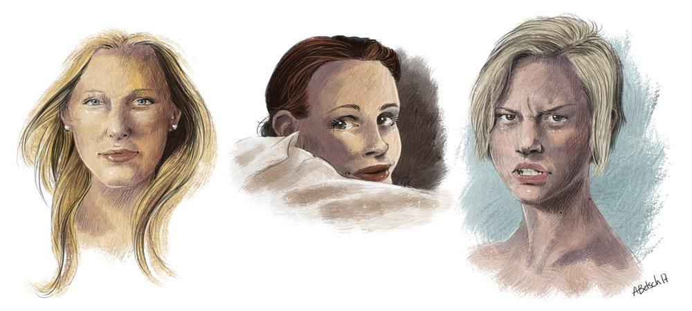 Aurélie Betsch Illustrations - Visages