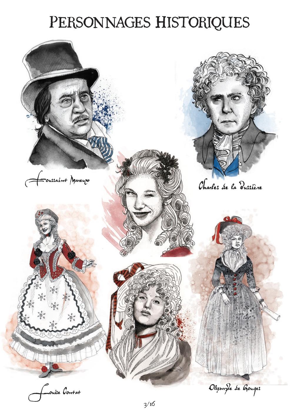 Aurélie Betsch Illustrations - Personnages du projet Les Dieux ont soif