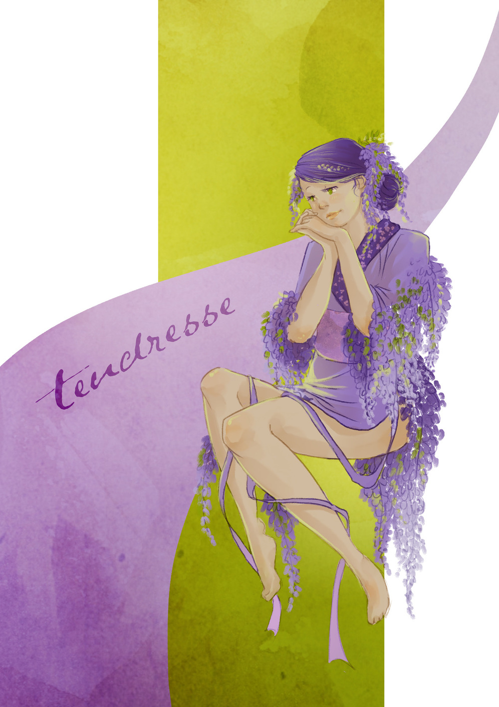 Aurélie Betsch Illustrations - Langage des fleurs : Glycine