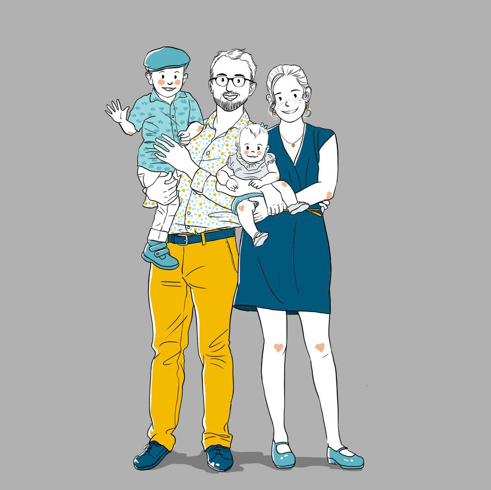 Aurélie Betsch Illustrations - Portrait de Famille