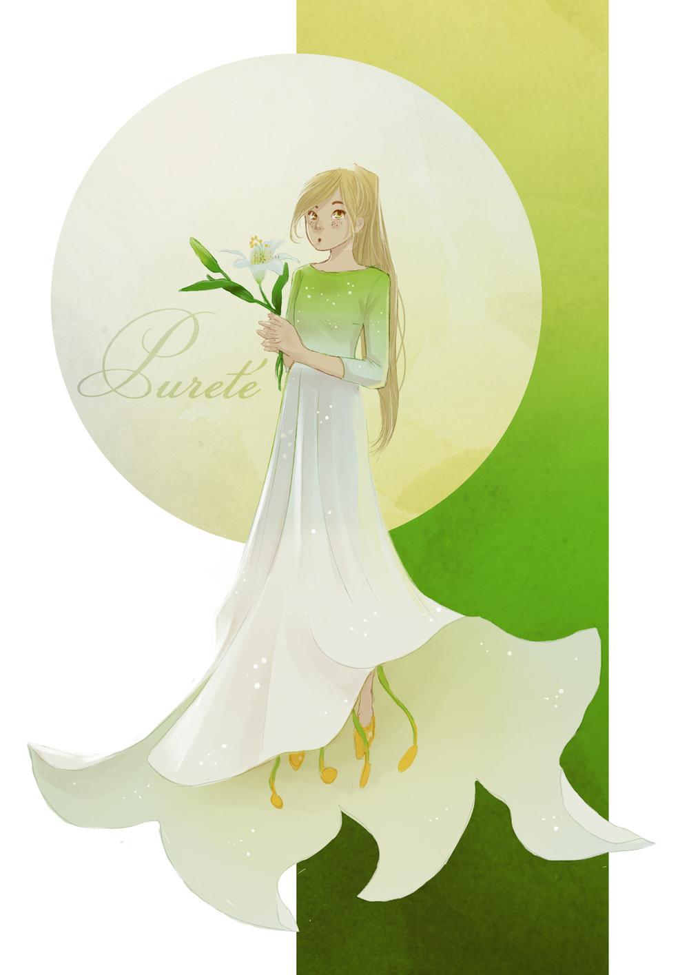 Aurélie Betsch Illustrations - Langage des fleurs : Lys