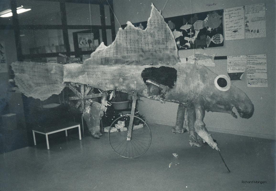 Richard Mangani - sculpture en volume école stendhal classe de CE2 Trappes 1986 daprès Jérôme Bosch le jugement dernier