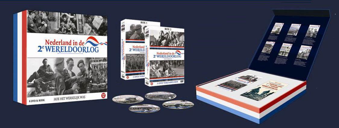 Nicoline Caris, artdirection and graphic design - >> dvd-box en kwartaaluitgave Nederland in de tweede wereldoorlog voor Tijdsbeeldmedia