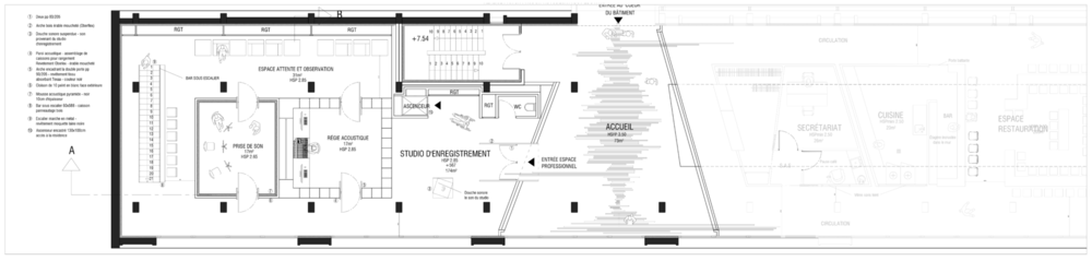 ARCHICOSMIC - STUDIO / PLAN / R+1