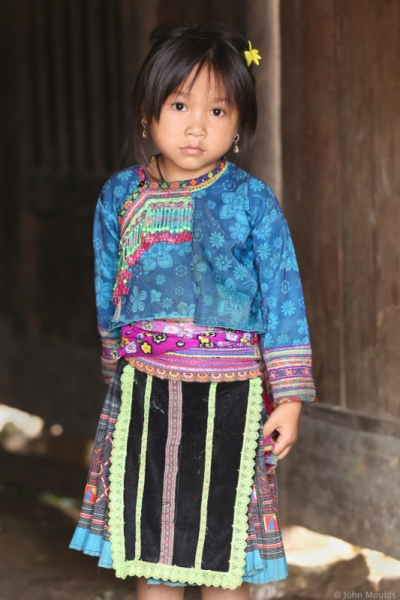 face of vietnam - Flower Hmong child in Ta Thang Townlette, Sin Ho District, Lai Chau