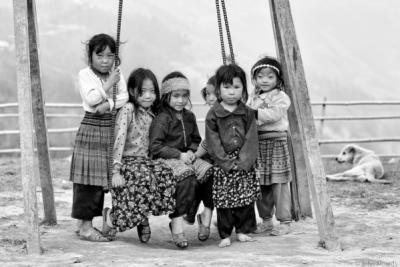 face of vietnam - Hmong children in Chin Chu Lin School