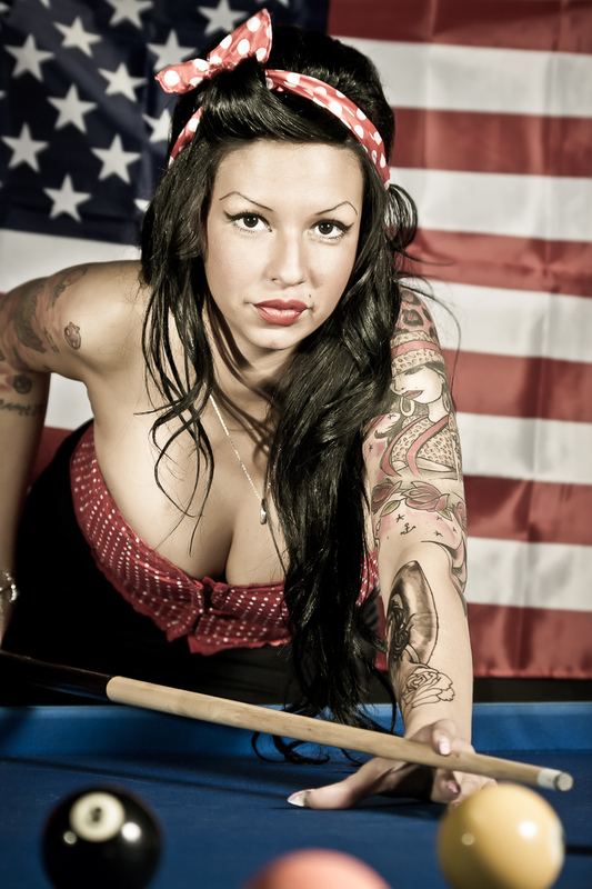 Foto PRIGANICA - Stars & Stripes pin-up