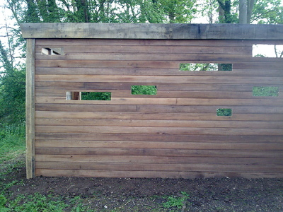 Mike Shadbolt Landscape Architect - Green oak frame with cedar cladding