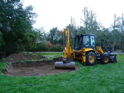 Mike Shadbolt Landscape Architect - Initial earthworks