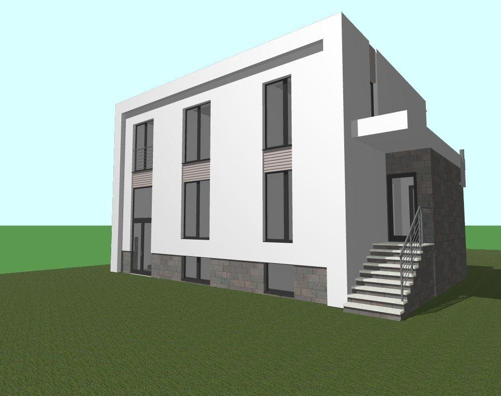 Architekt Maciej Hyz - Widok południowo-wschodni - wizualizacja robocza.