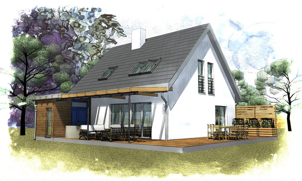 Architekt Maciej Hyz - Widok od ogrodu.