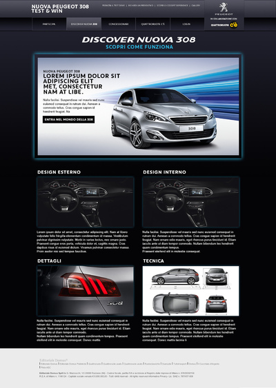 Paolo Vergani - New Peugeot 308 Contest Website