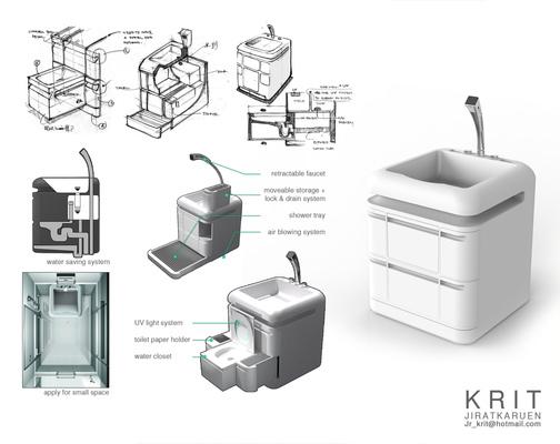 Jr.Krit - Q COMPACT TOILET SMALL LIVING SPACE DESIGN