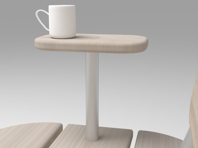 Dackelid Form - The armrest is a bit bigger than usual, this is to make a small table to place the coffee cup on.