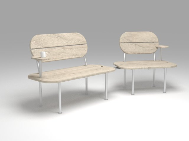 Dackelid Form - The benches, one of them is a smaller version