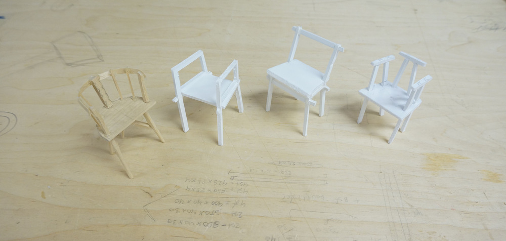 Dackelid Form - Making 1:10 scale models in cardboard just to have a feeling of how I can lock different types of legs