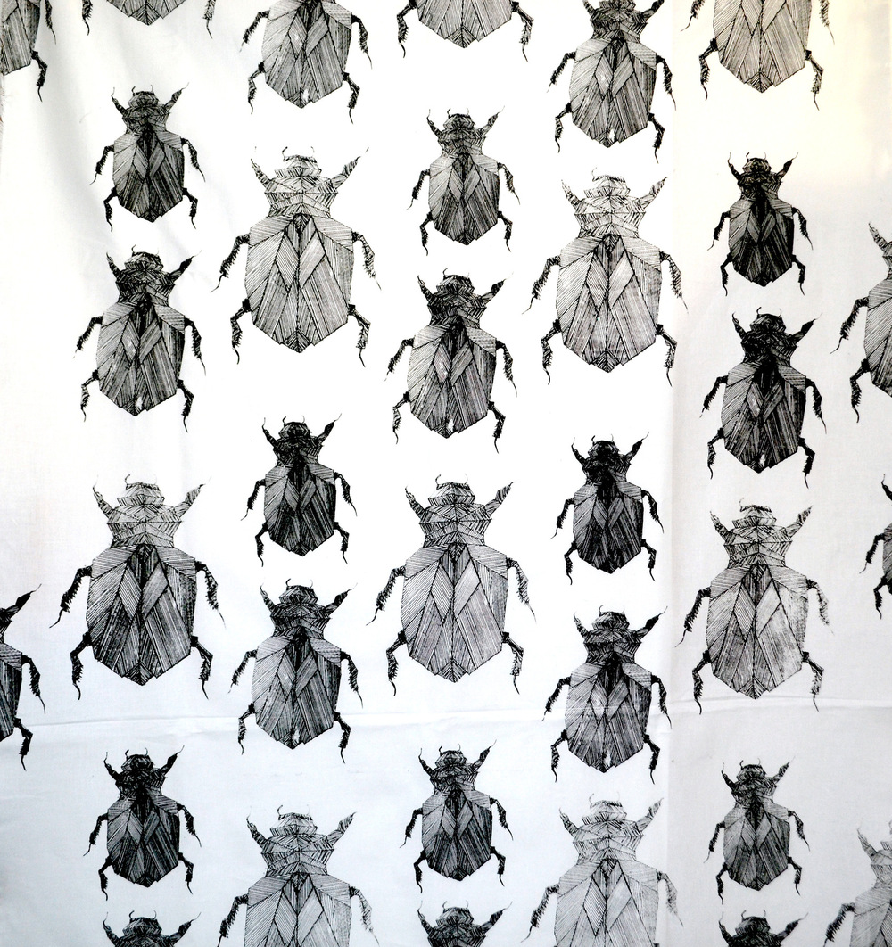 Dackelid Form - Patterns of beetles made from hundreds of pen lines