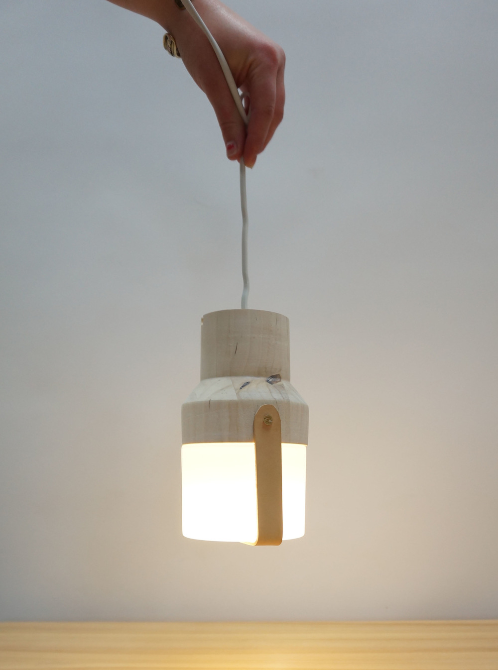 Dackelid Form - The light can be placed in window, on a table or it can hang from the ceiling