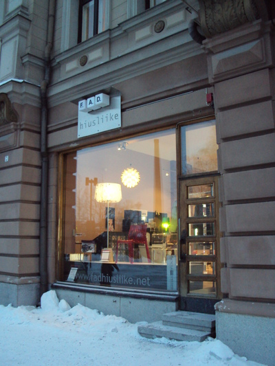 Muotoilija Mirella Virtanen - Näyteikkunasuunnittelu F.A.D, Tampere, 2011