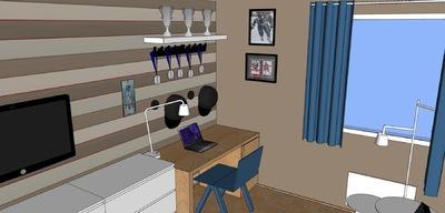 Muotoilija Mirella Virtanen - Pojan huone versio 1, Helsinki. 2014