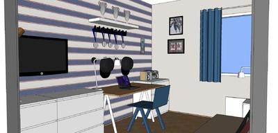 Muotoilija Mirella Virtanen - Pojan huone versio 2, Helsinki, 2014