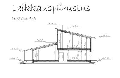 Muotoilija Mirella Virtanen - Leikkauspiirustus, Pernaja, 2014