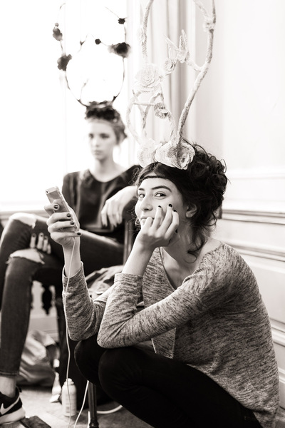 Daniel Sack - Heidi Couture Demel Show Backstage