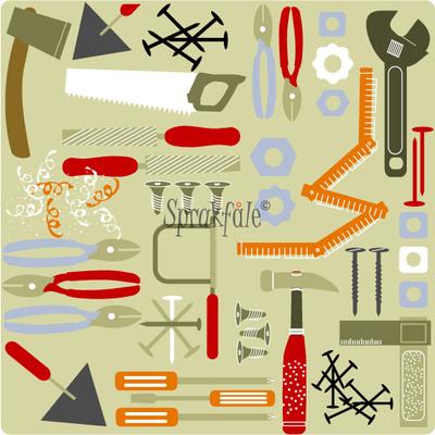 Sprakfåle illustration och design - Egenproducerad almanacka.