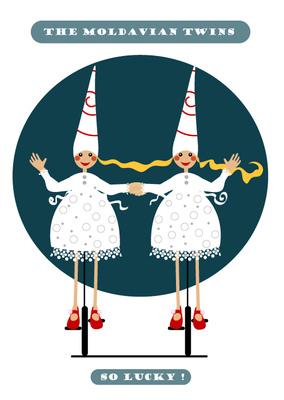 Sprakfåle illustration och design - Inspiration Eurovision Song Contest.