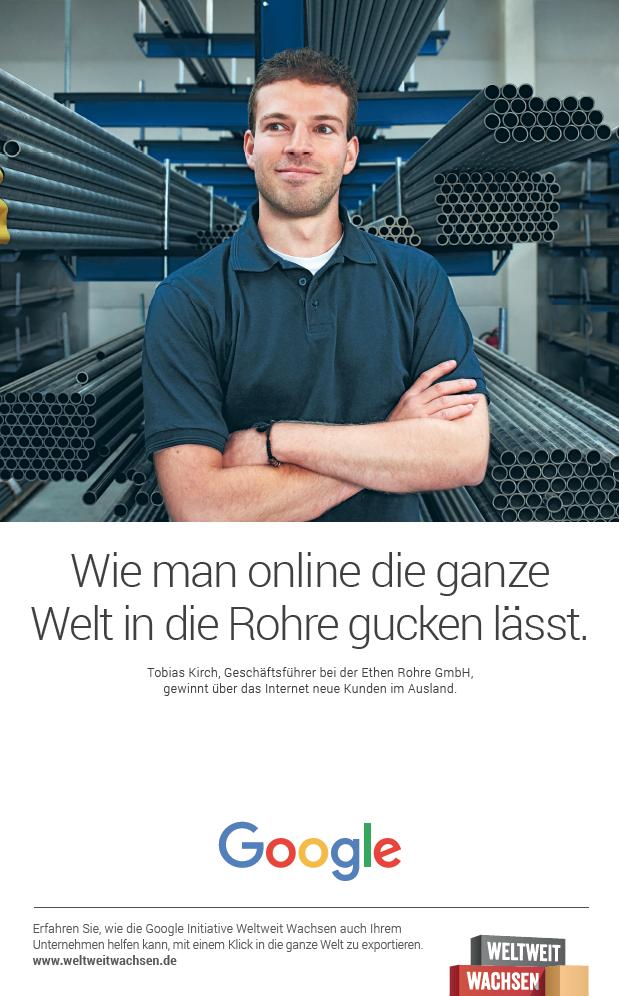 Fotografin Hamburg Reportage Portrait Reise Editorial Corporate Werbung Photography - Google Ad Weiter Wachsen, Ethen Rohre, Aachen. Agency 72&sunny, Amsterdam