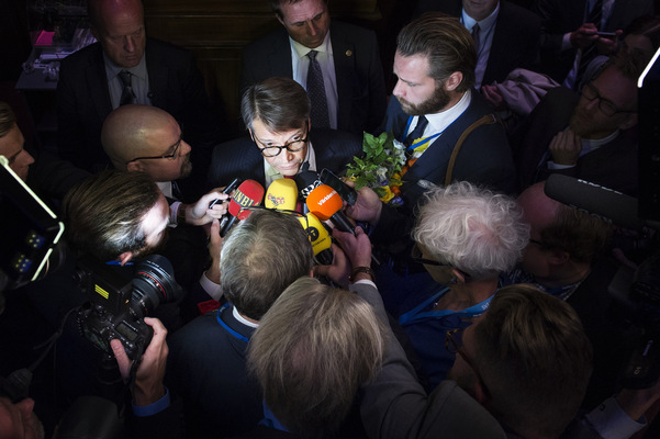 Photographer Anna Tärnhuvud - Göran Hägglund resigns as party leader for the Christian Democrats 2014, Aftonbladet