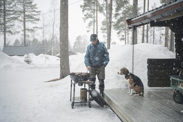 Photographer Anna Tärnhuvud - Uffe och Traj. Teurajärvi, Korpilombolo.
