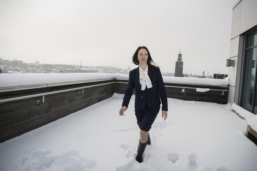 Photographer Anna Tärnhuvud - Åsa Lindhagen, politician. Göteborgs-Posten