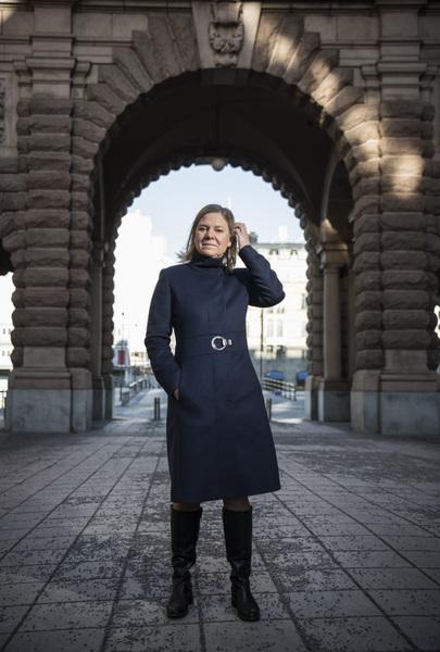 Photographer Anna Tärnhuvud - Magdalena Andersson, Minister of Finance. Göteborgs-Posten