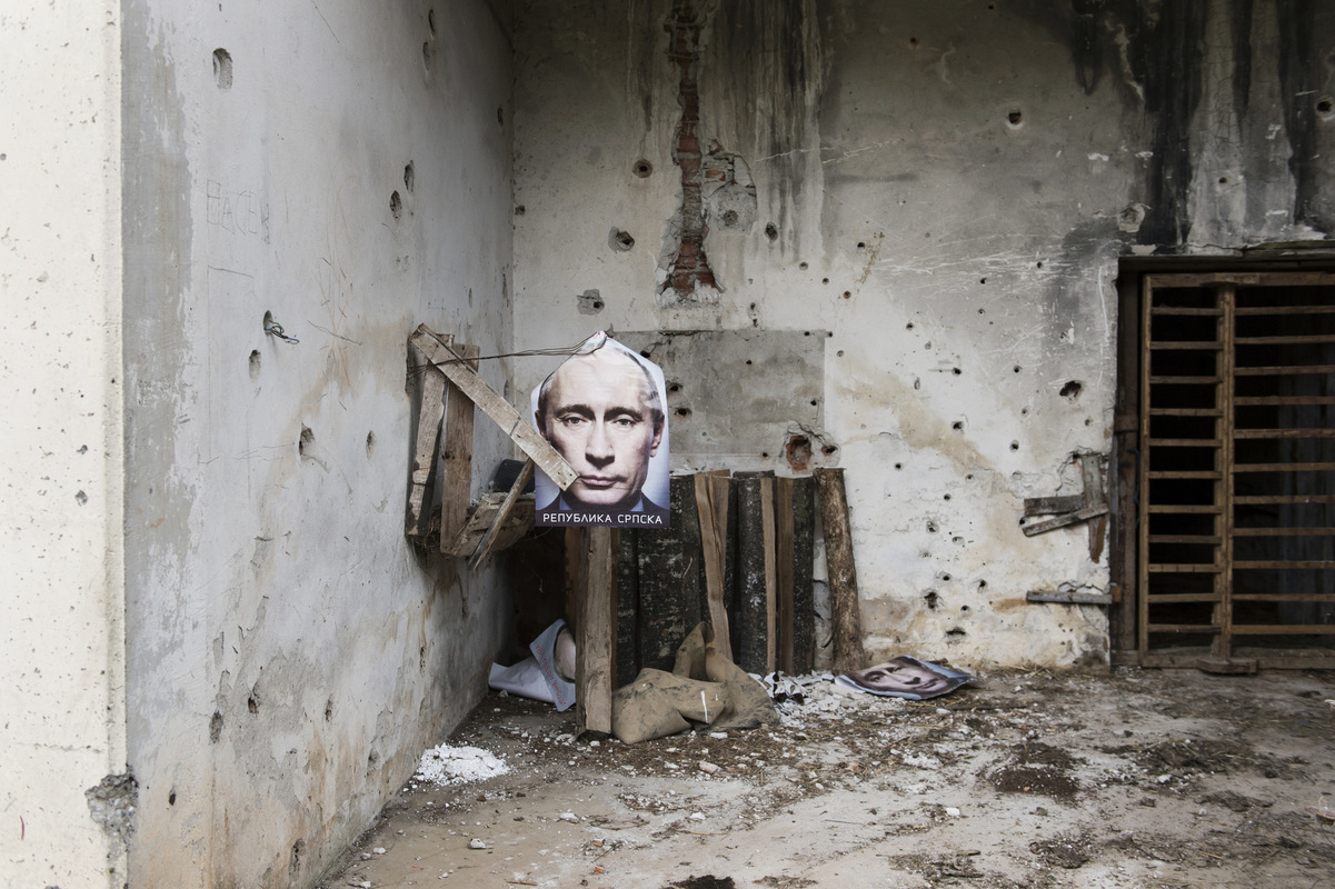 Photographer Anna Tärnhuvud - Bosnian Serbs sees Putin as their ally. His pictures hung everywhere in the Serbian republic in 2015, even in places where Bosnian Muslims were killed 20 years ago.