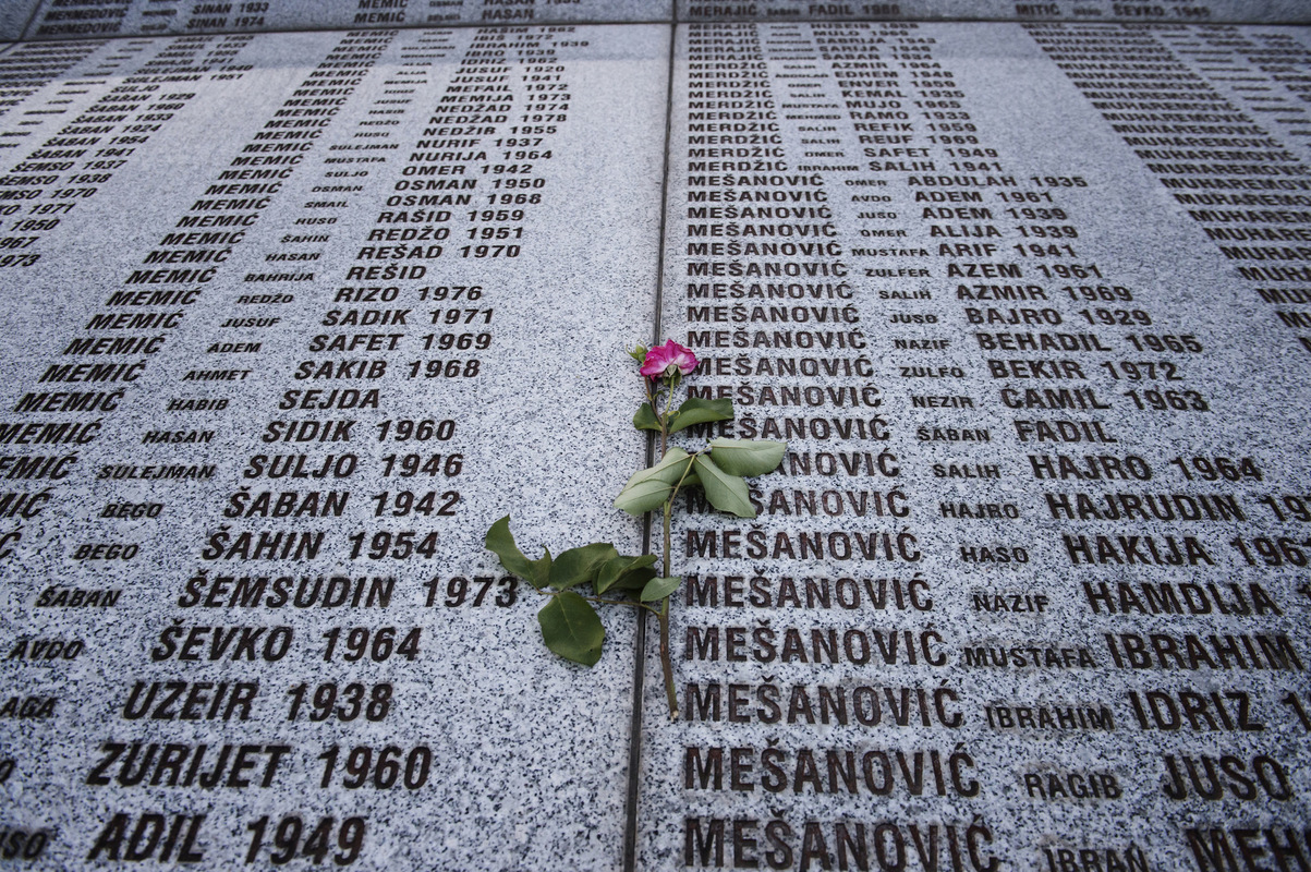 Photographer Anna Tärnhuvud - 6377 people have received their final resting at the cemetery in Potocari - thats more than the population of Srebrenica today.