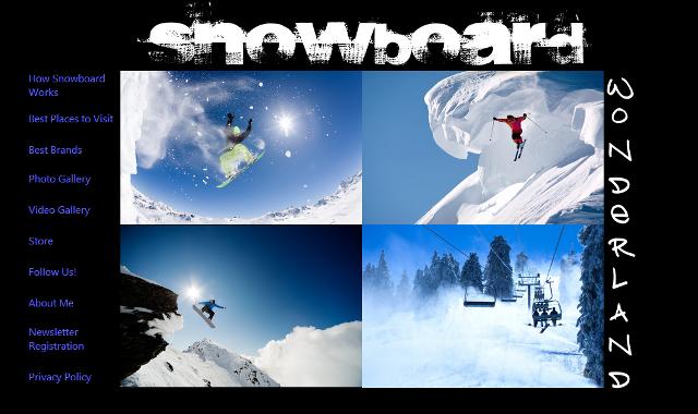 Nuria Cuenca - Snowboard Wonderland