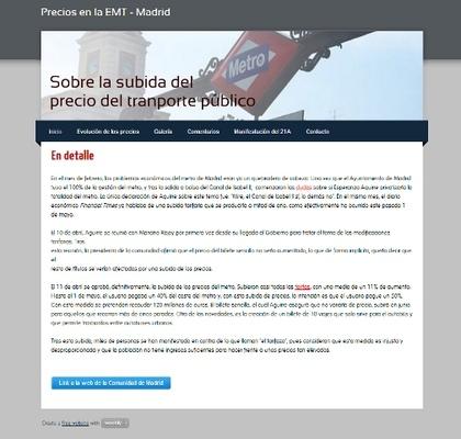 Nuria Cuenca - Precios EMT